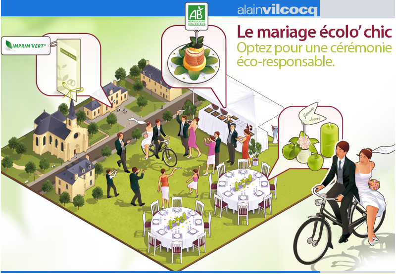 LE MARIAGE ECOLO' CHIC Illustration /Edition