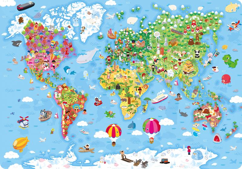 Carte du monde / Janod