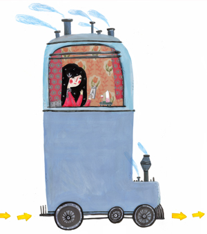 illustration d'une locomotive